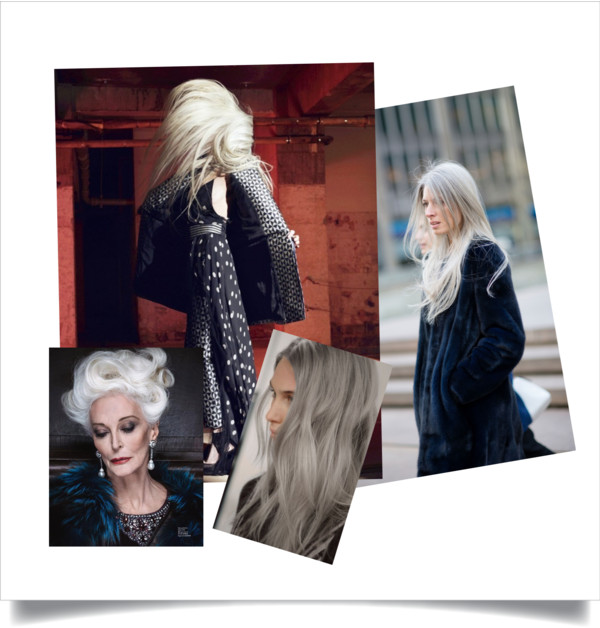 Grey hair collage