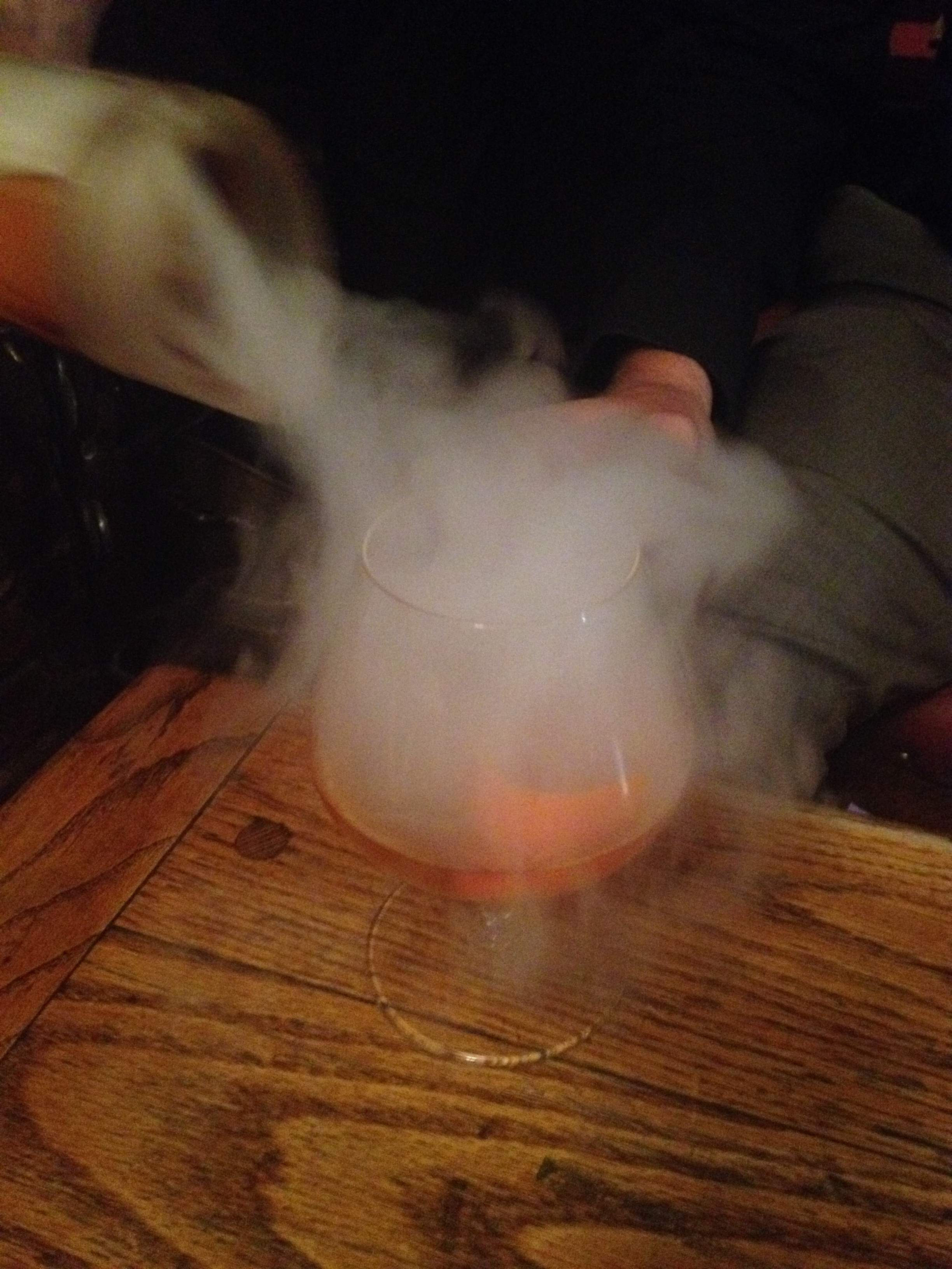 The Hinds Head Bray - possibly the BEST meal I've had in my life.  This is their famous Old Fashioned.  That vapour is infused with demerara brown sugar.  It smelled and tasted wonderful.  WOW.