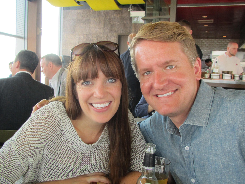 Jen and the darling husband, Ryan - xoxoxox