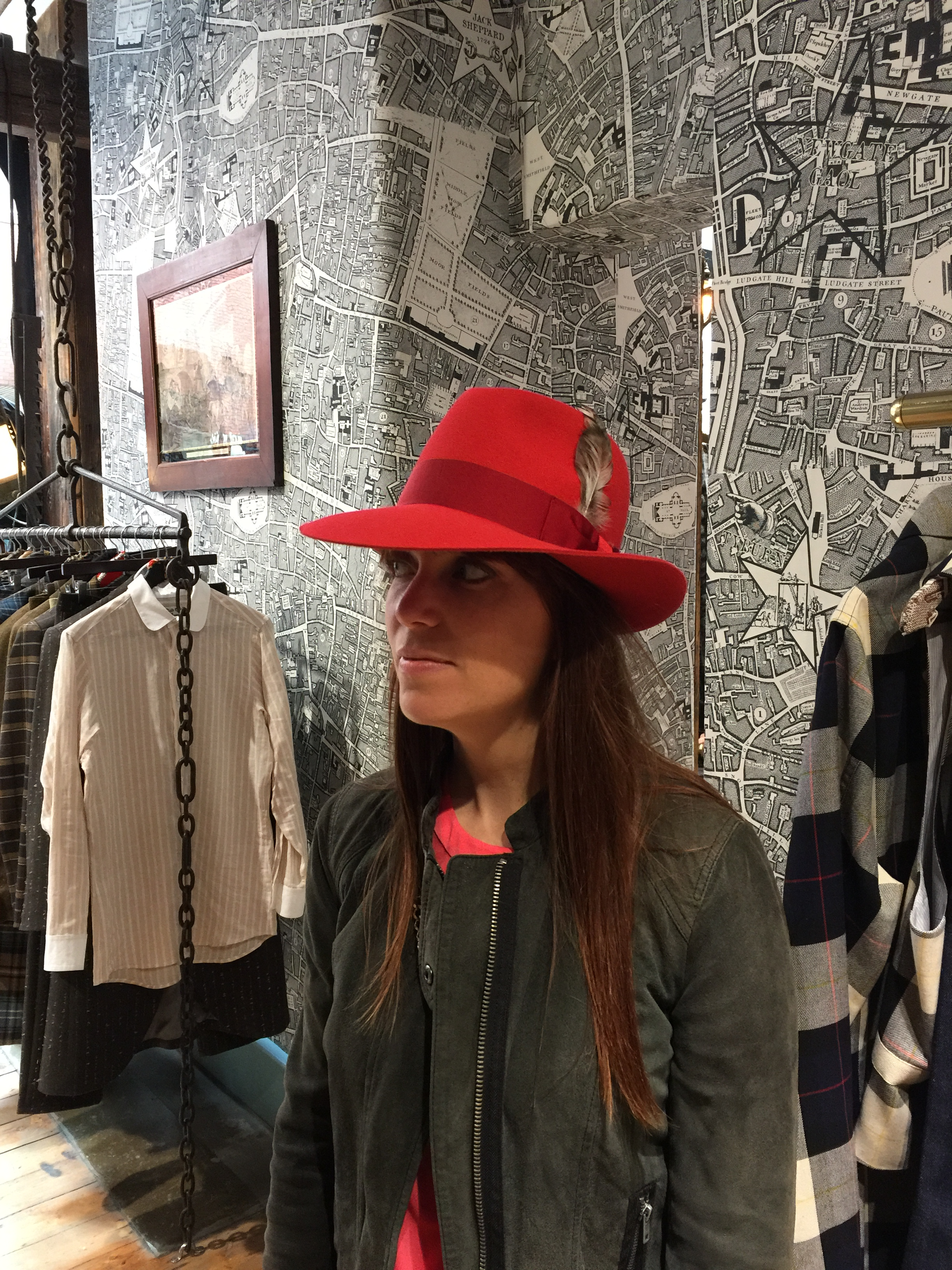 Jen looking fabulous in a bright red fedora at Child of the Jago