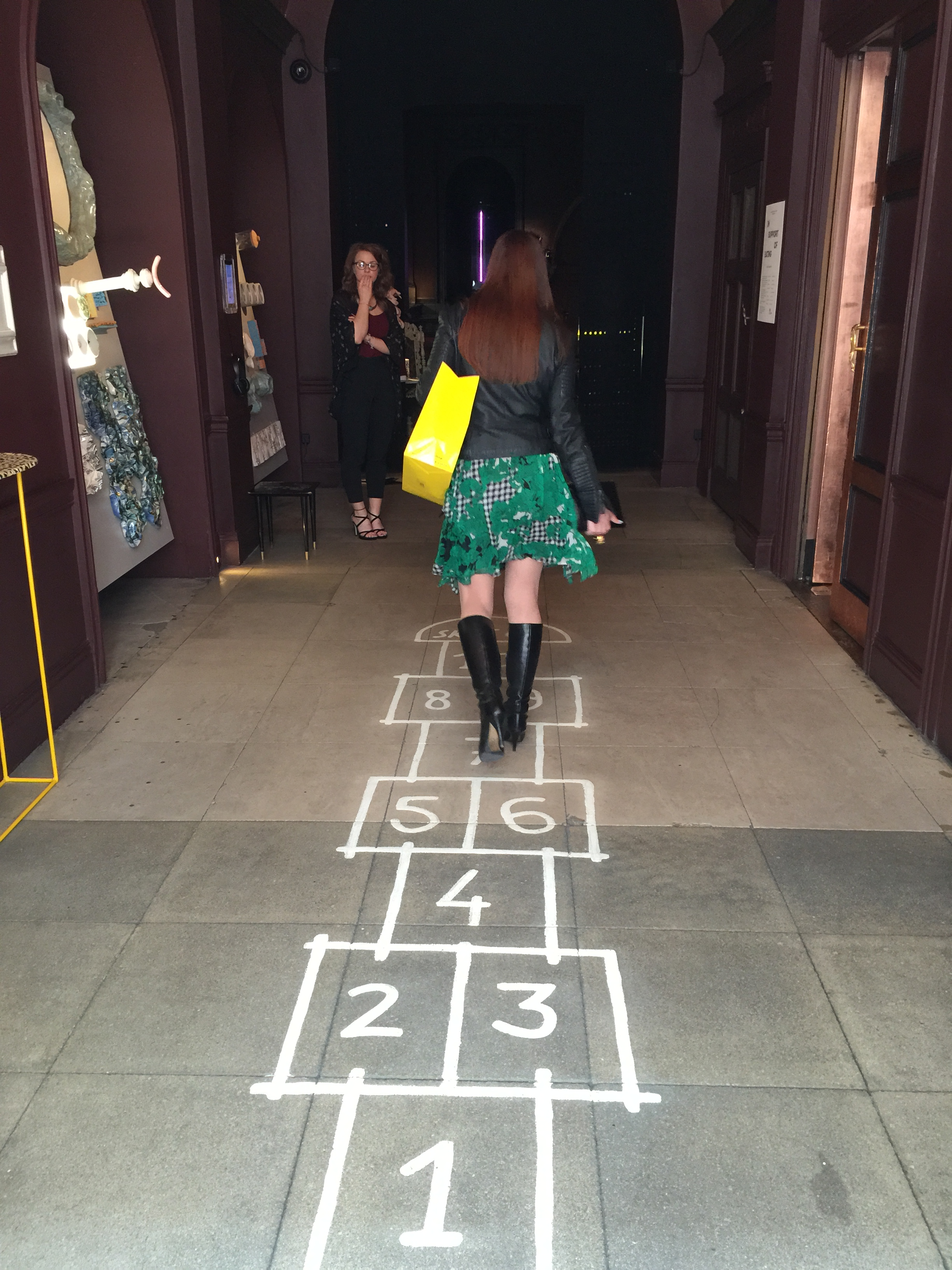 Hopscotch at Sketch.  Just loving Jen's Diane Von Furstenberg dress.  Wish I got a better pic of its movement!
