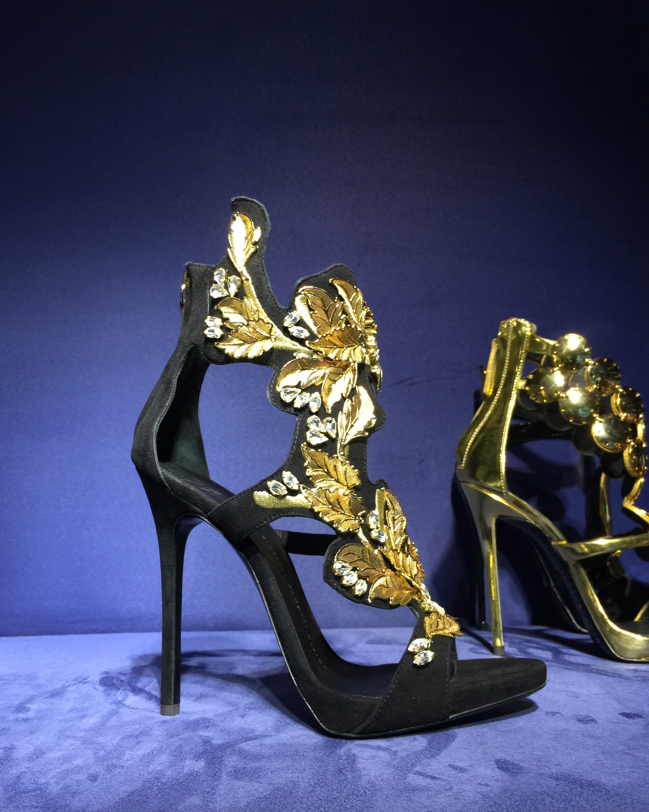 Giuseppe Zanotti's at Selfridge's shoe galleries.  I can die happy now after that visit.