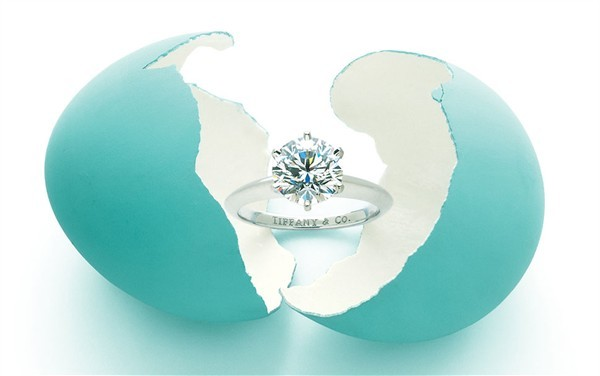 Tiffany & Co. six-prong engagement ring Style Domination Platinum Diamond
