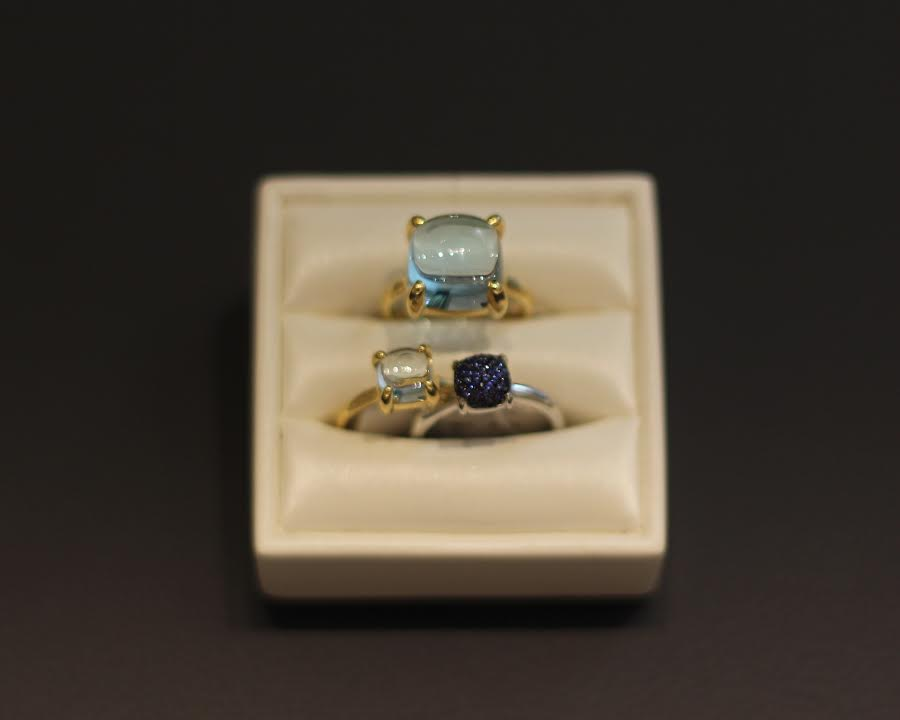 Tiffany & Co Rideau Centre Ottawa Canada Style Domination Diamonds aloma Picasso Sugar Stack Rings Aquamarine Sapphire