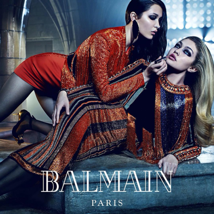 Gigi Hadid Bella Hadid Balmain Paris Fall Winter 2015 Fashion Blogger Style Domination Couture