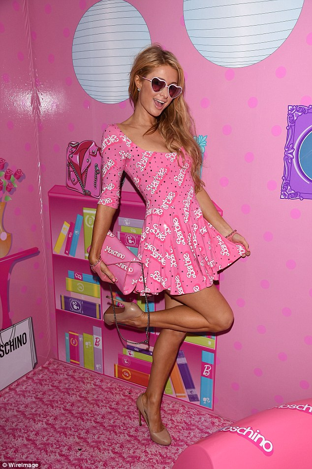 PAris Hilton Disgusting Moschino Trashbag Style Domination Barbie