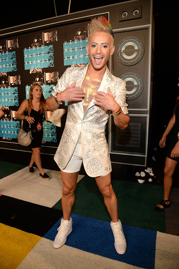 Frankie Grande VMAs 2015 Miley Cyrus Nicki Minaj Style Domination Fashion Blogger