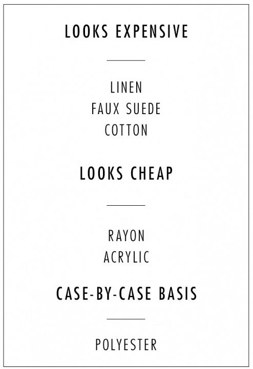 Cheap vs. Expensive Fabric Guide Style Domination Blogger
