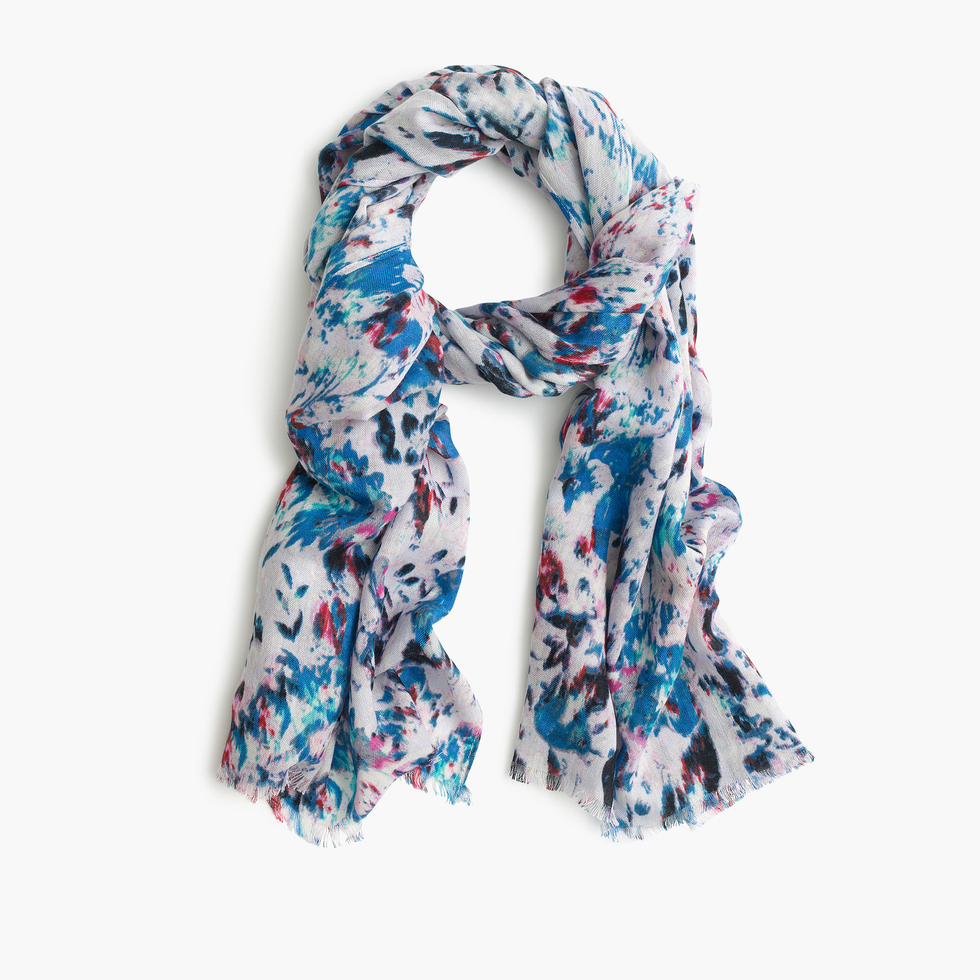 Watercolor Scarf J.Crew Fashion Blogger Style DOmination