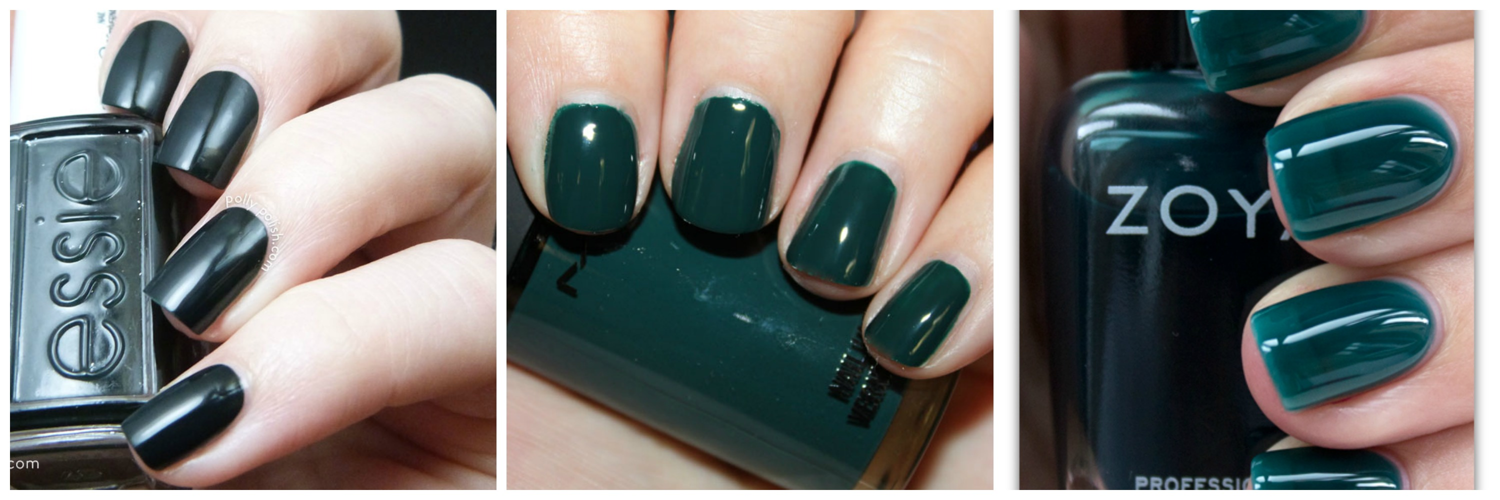 Dark Green Nailpolishes Essie MAC Zoya Style domination Ottawa Blogger Fashion