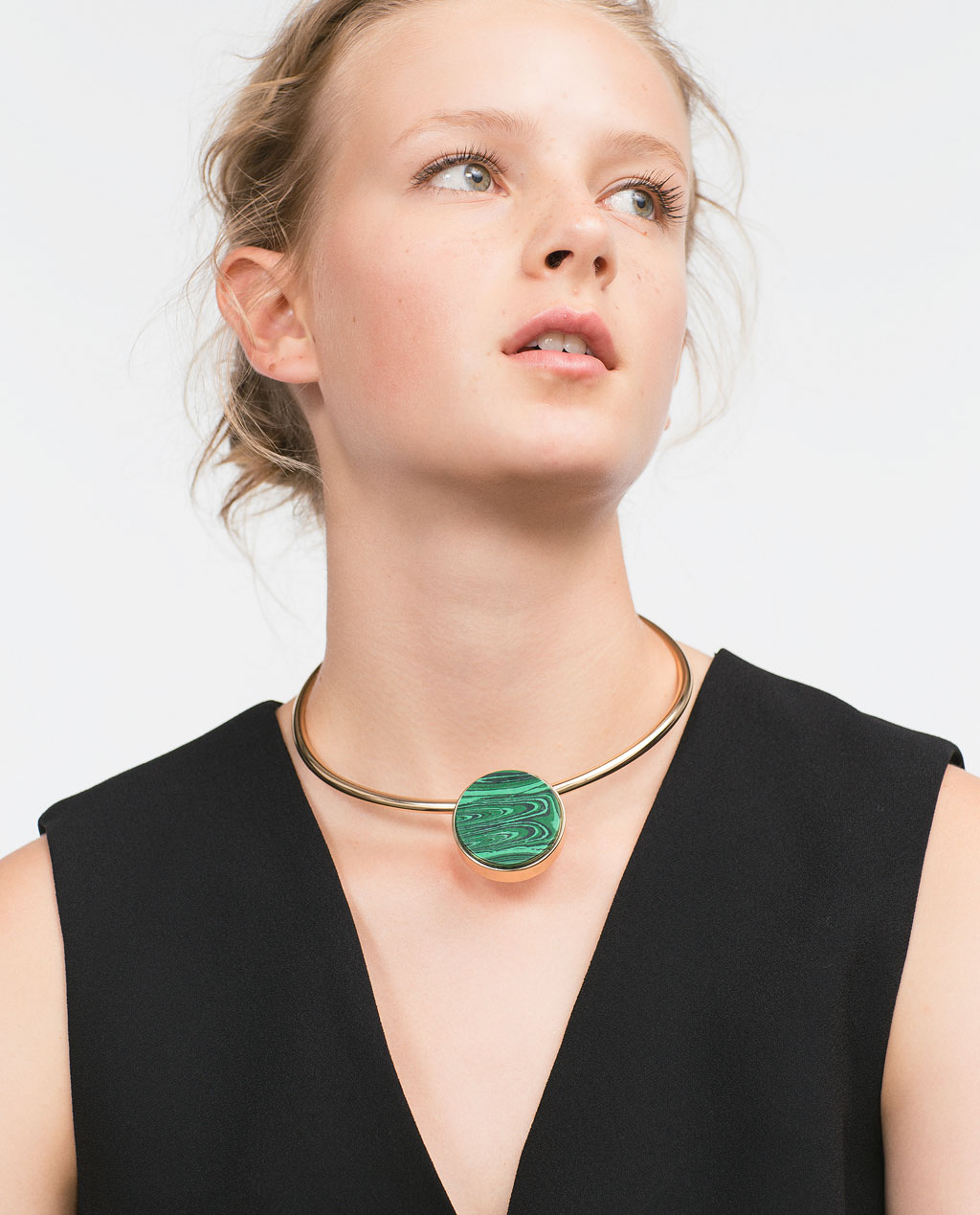 Zara Malachite Statement Necklace Style Domination