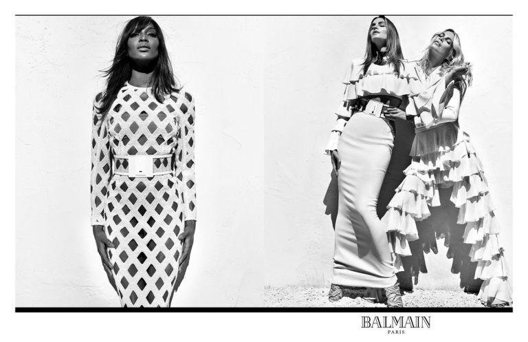 Balmain Killing It With Newest Campaign Featuring 90s Supermodels   www.styledomination.com