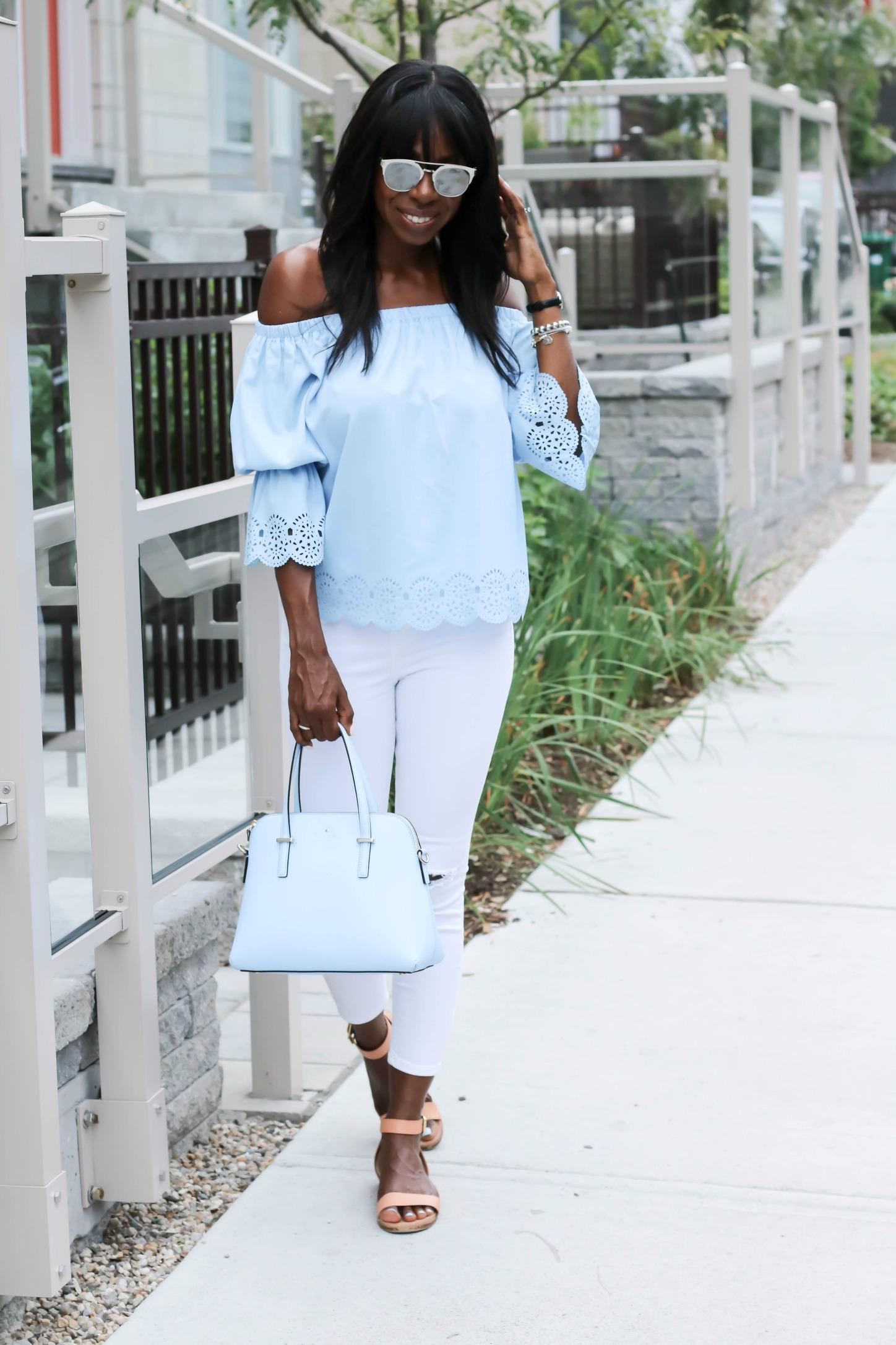 The Unlikely Blue Belle | www.styledomination.com
