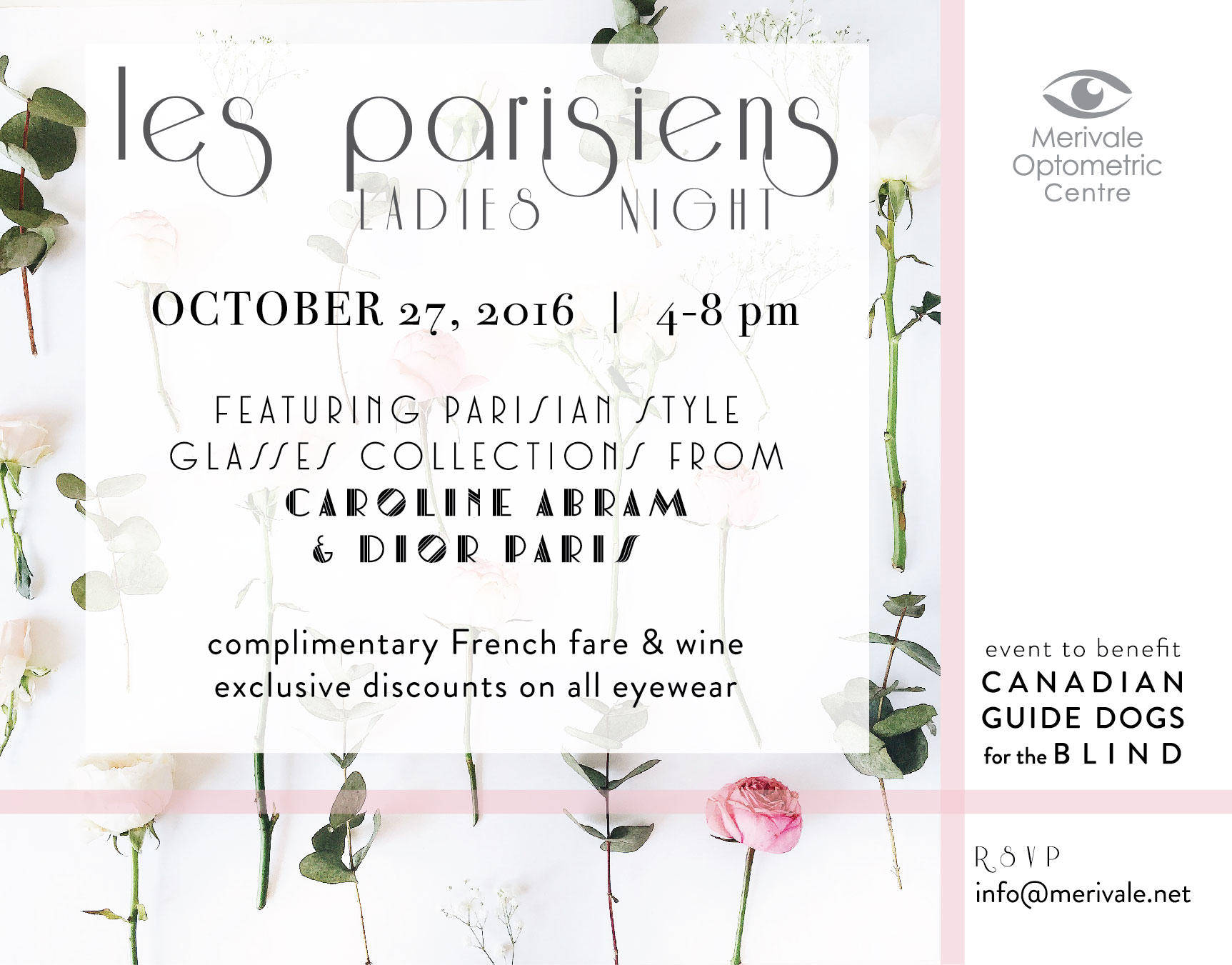 Les Parisiens - Ladies Night at Merivale Optometric, October 27, 2016