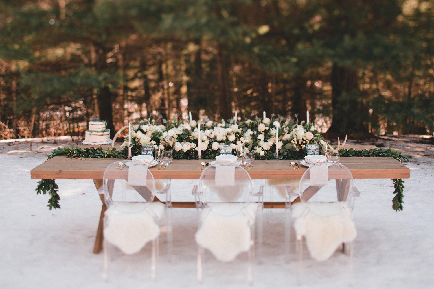 Wedding Head Table on the beach