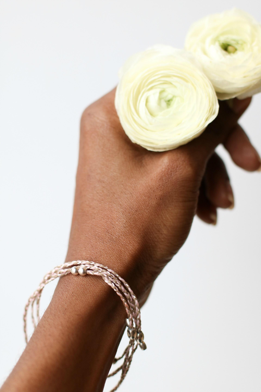 ALEX AND ANI Precious Threads Necklace in Petunia