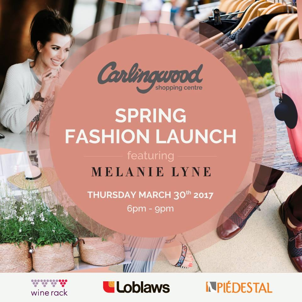 Melanie Lyne Spring Fashion Launch Invitation