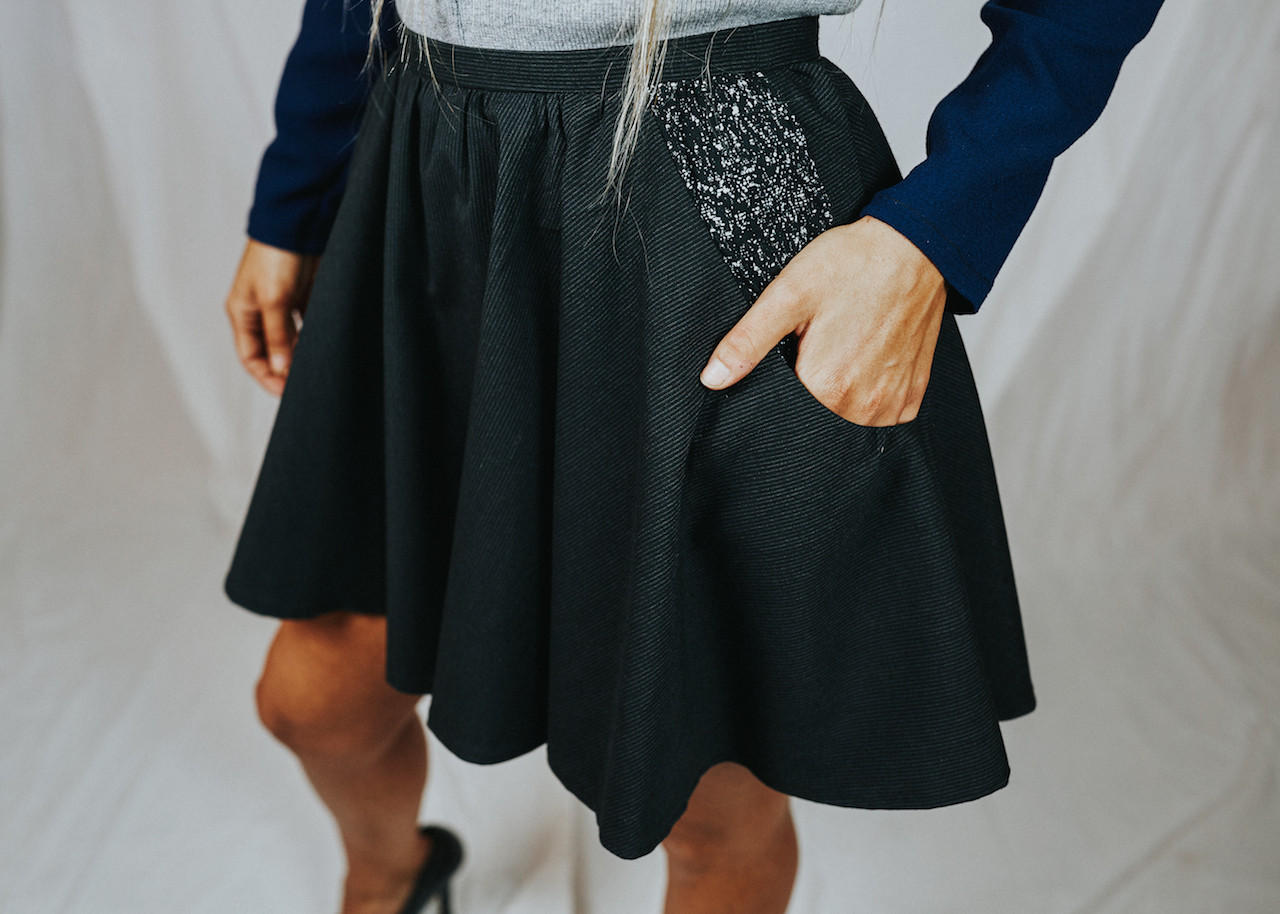 Rowes Fashion Black Skirt