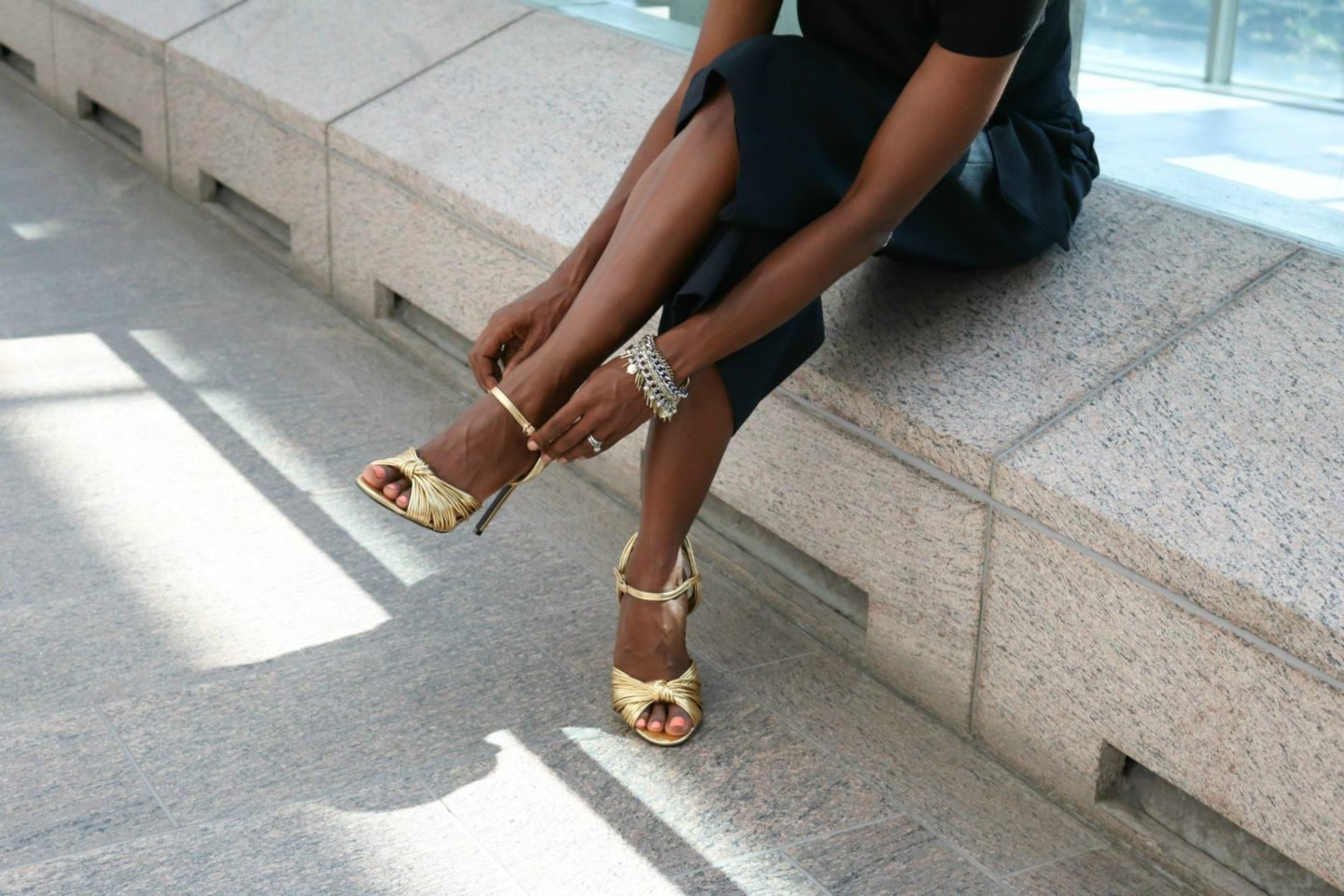 How To Wear Gold High Heels Like A Boss