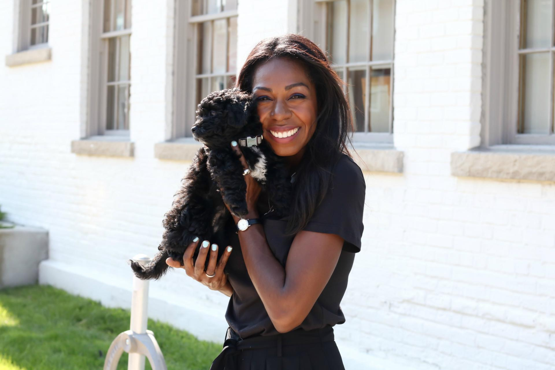 How do you de-stress? I cuddle puppies and perk up with Teonella Jewellery!