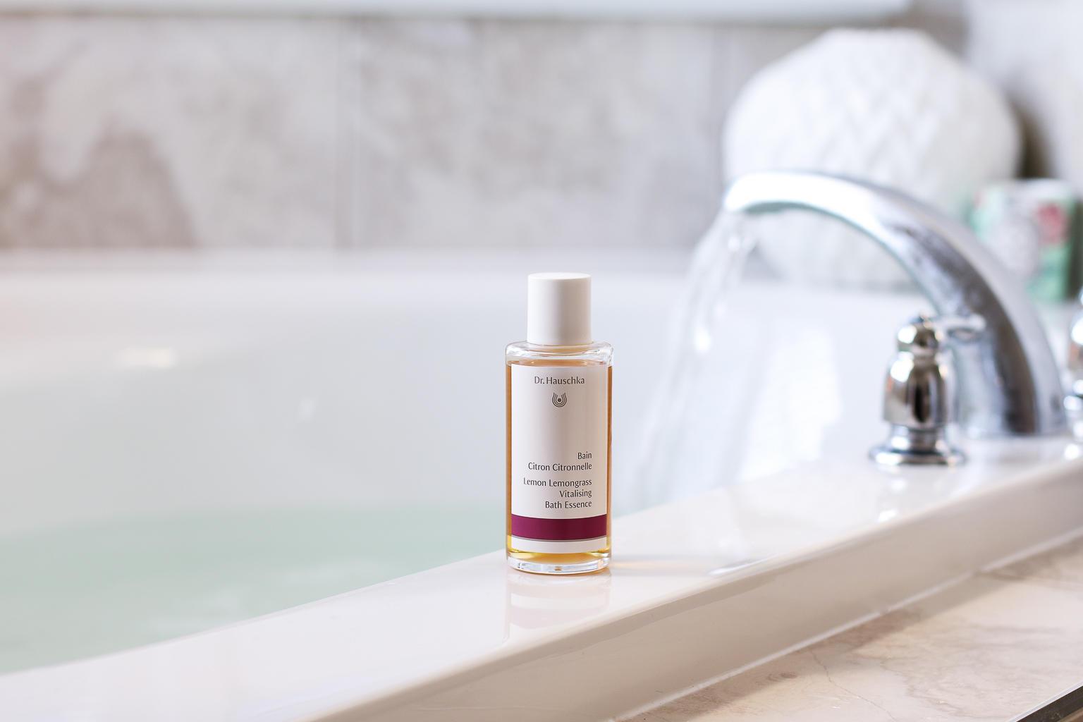 My Bathtime Ritual - Dr. Hauschka Lemon Lemongrass Vitalising Bath Essence | Style Domination by Dominique Baker