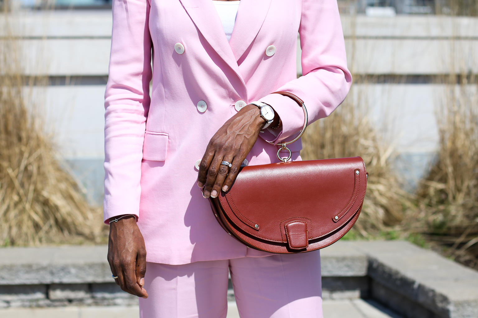 The Pink Suit Diaries - The Zara Pink Suit | Style Domination by Dominique