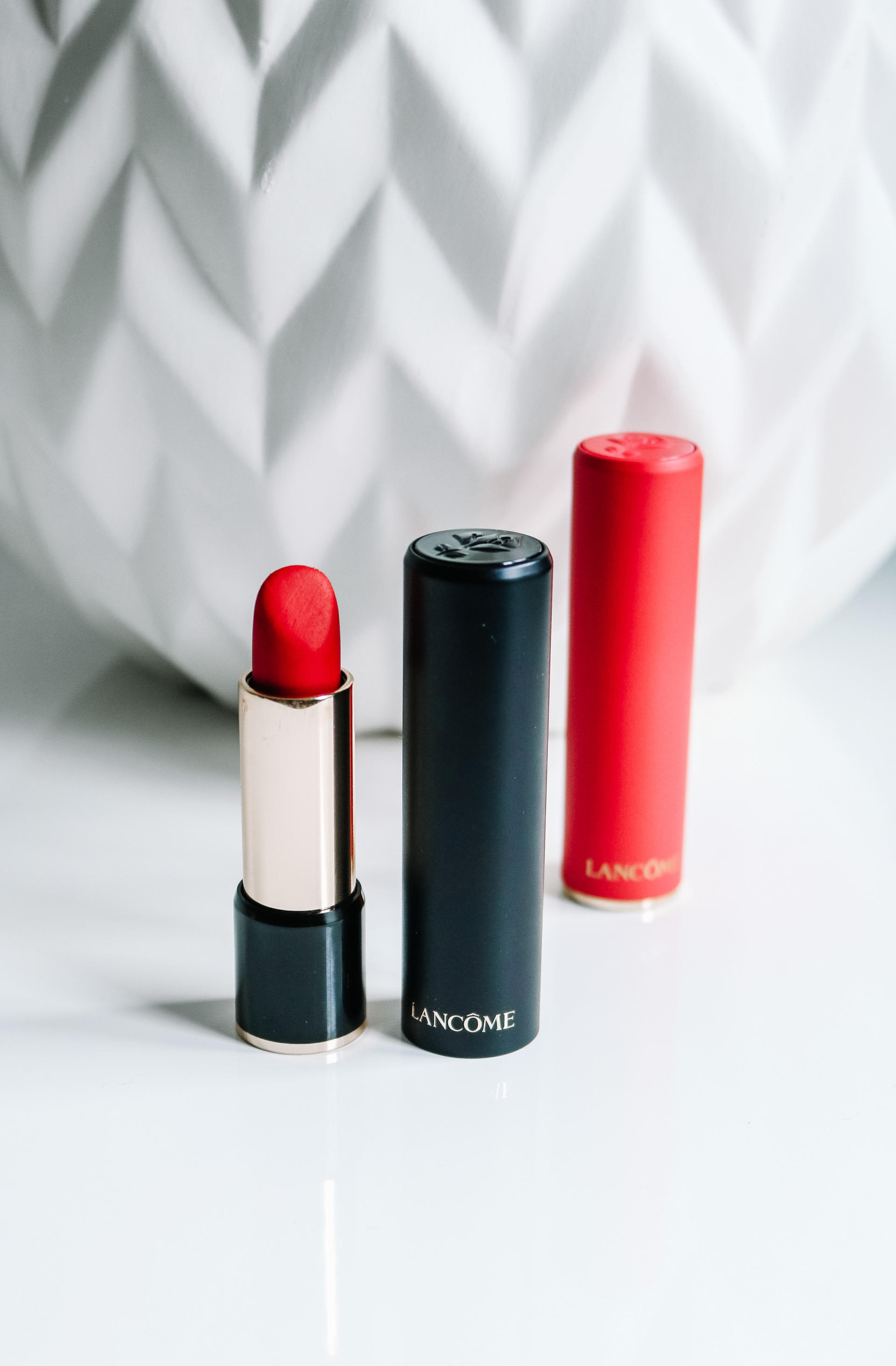 The Most Hydrating Matte Lipsticks: Lancôme L'Absolu Rouge Drama Matte | Style Domination by Dominique Baker