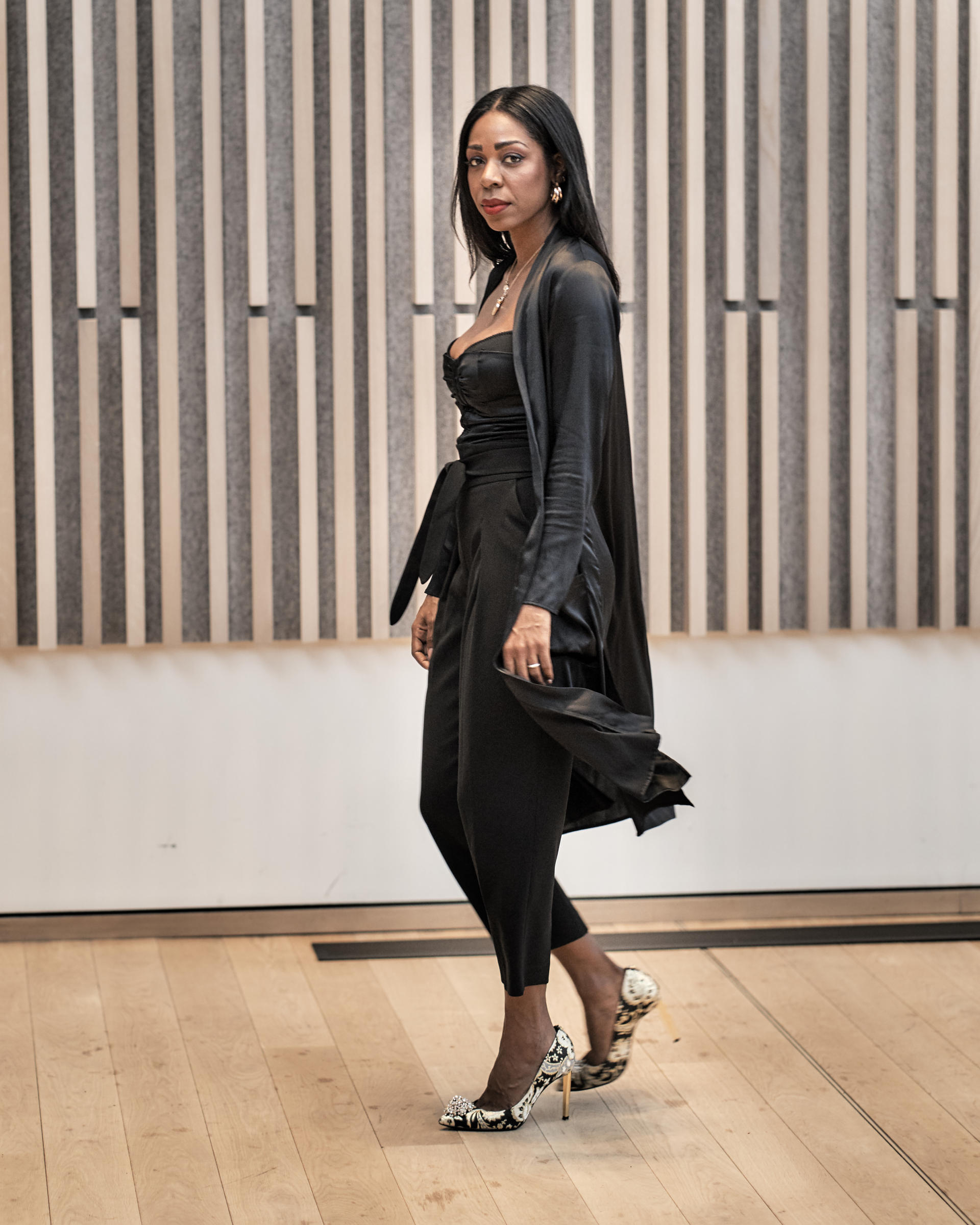 Silky, Satiny Elegance For The Holidays - Sympli Clothing | Style Domination by Dominique Baker