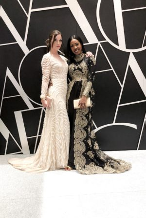 Dominique Baker and Katrina Turnbull at the Canadian Arts & Fashion Awards CAFA