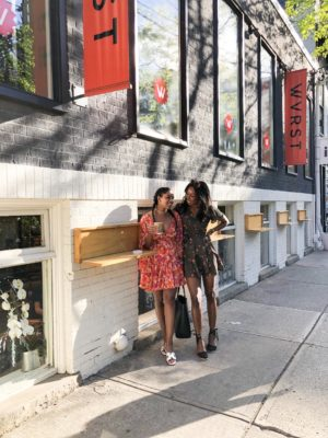 Dominique Baker and Joudel Janoska in Toronto