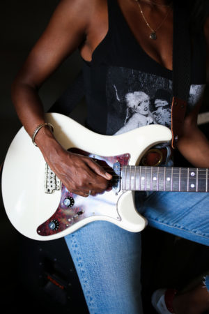 Close up of Electric Guitar at Metro Music