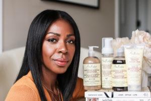Dominique Baker Next To Shea Moisture Jamaican Black Castor Oil Strengthen and Restore Line