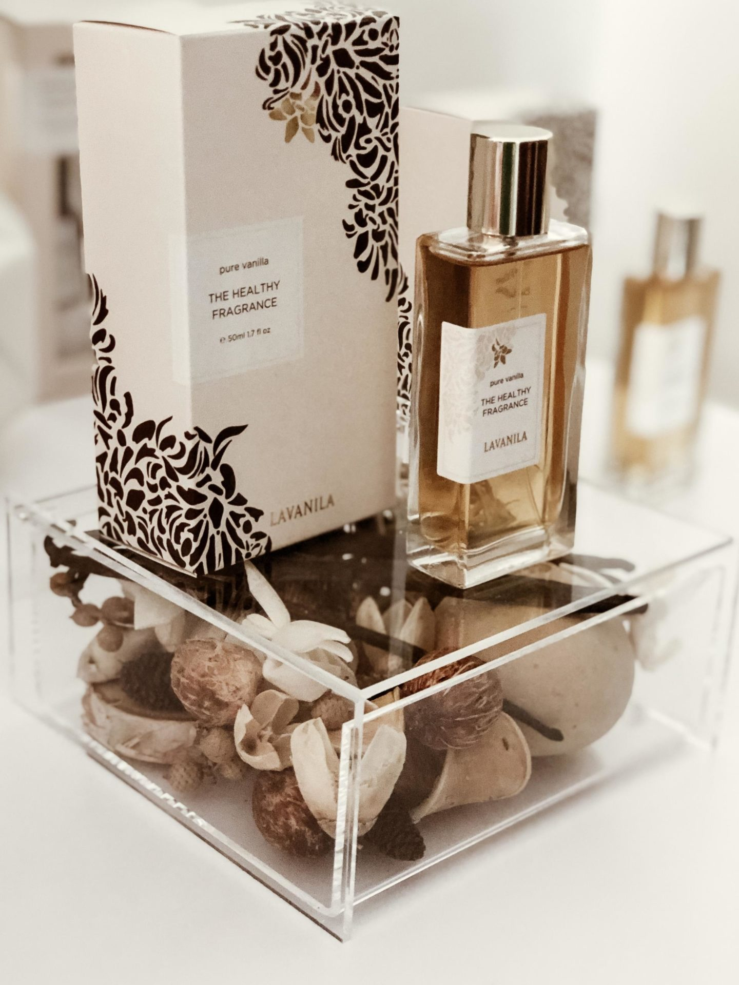Lavanila Pure Vanilla Perfume Display