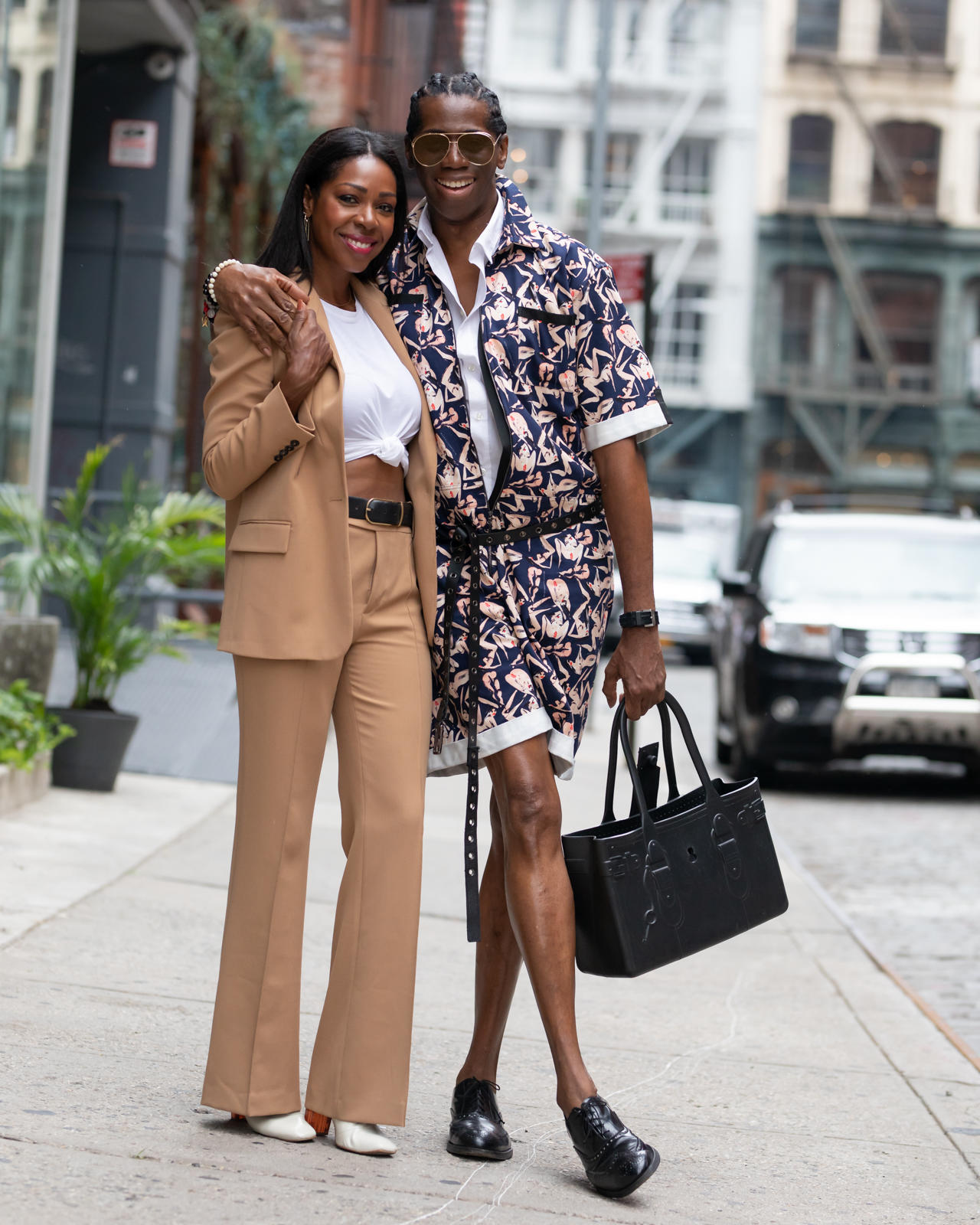 Dominique Baker and Miss Jay Alexander in Soho, NYC