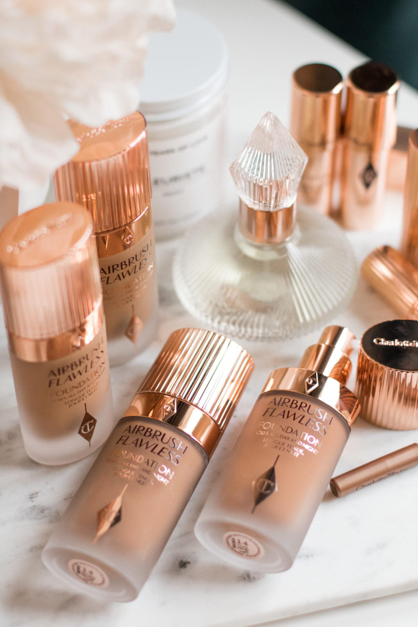 Charlotte Tilbury Airbrush Flawless Foundation on Dominique Baker's Vanity Table
