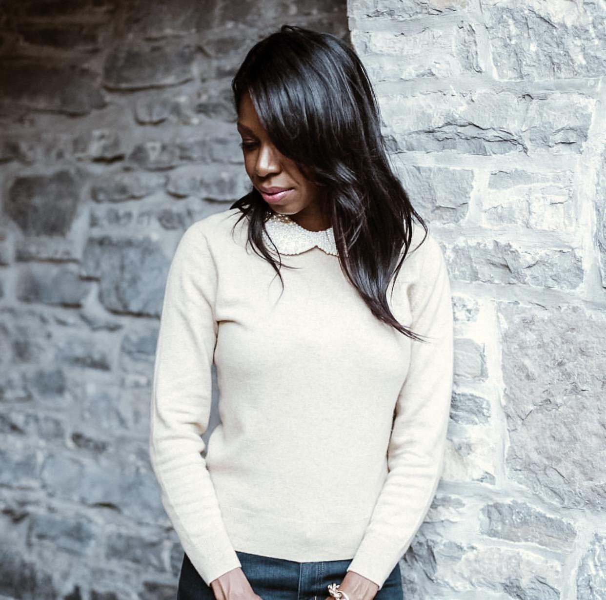 Dominique Baker with Shiny Relaxed Hair