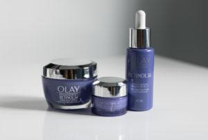 Olay Retinol24 Products on vanity table