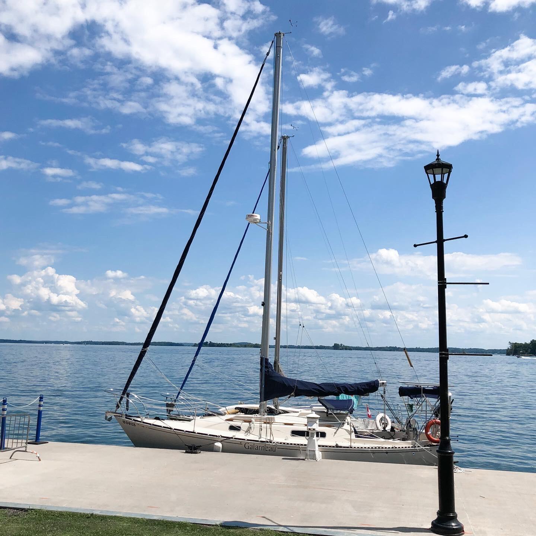 Sailboat in Gananoque, ON