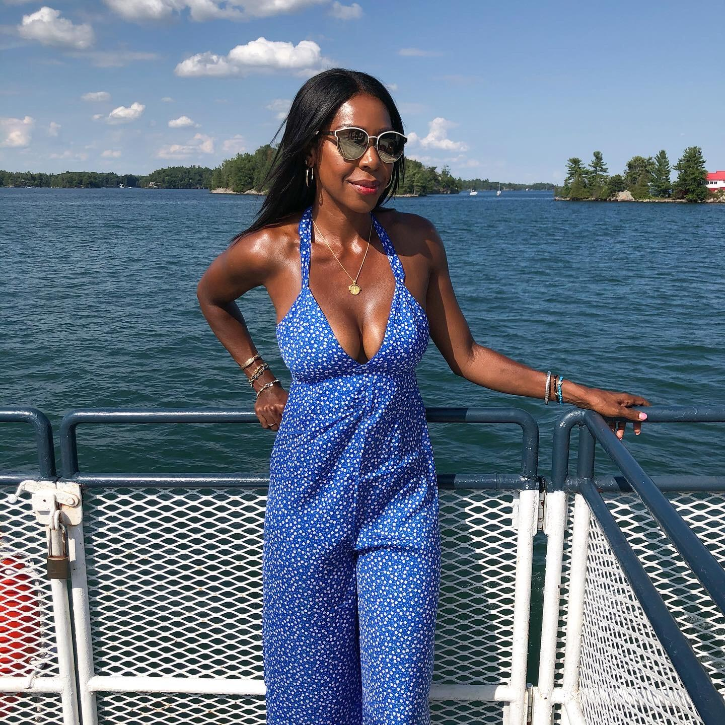 Dominique Baker on a cruise in 1000 Islands