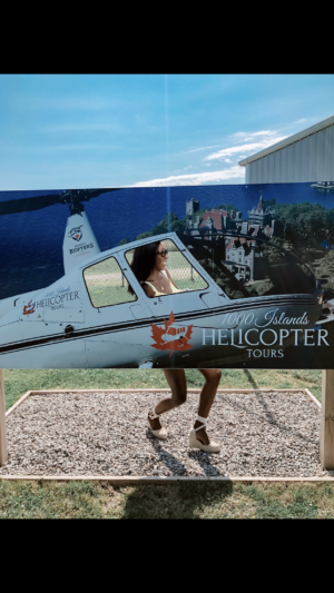 Dominique Baker at 1000 Islands Helicopter Tours