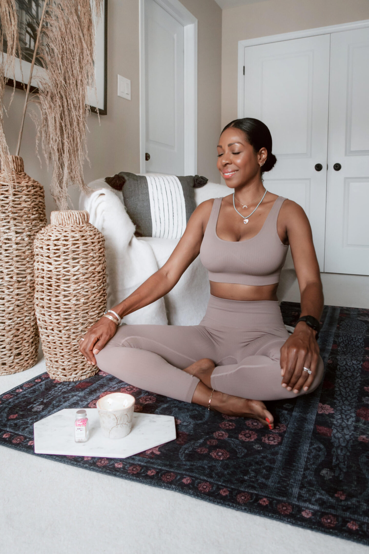Dominique Baker meditation with candle