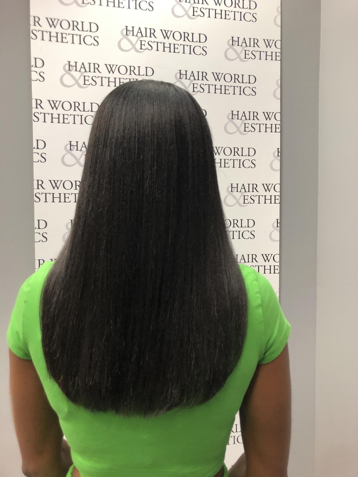 Dominique Baker Relaxed Hair Length Check